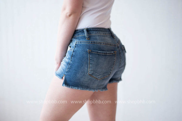 Button Fly Denim Shorts, SALE, Kan Can, badhabitboutique