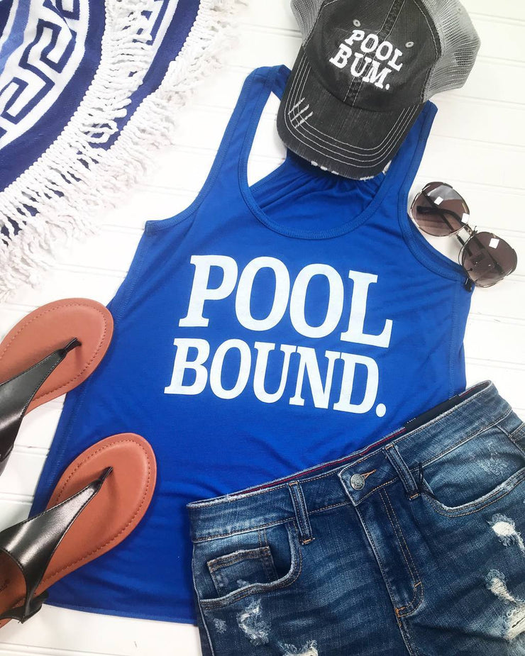 Pool Bound Racer Back Tank | Blue
