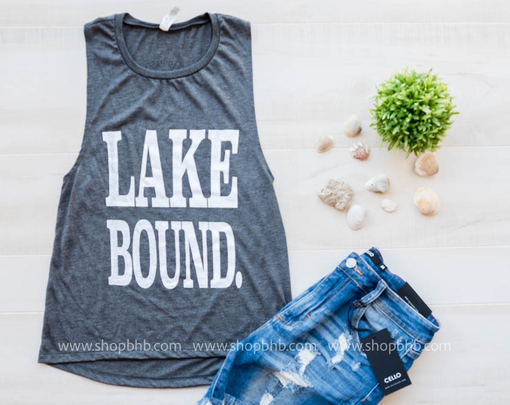 LAKE BOUND MUSCLE TANK, LAKE, GRAPHICS, badhabitboutique