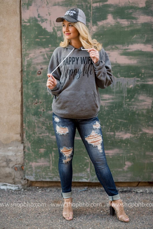 Happy Wife Happy Life Hoodie - BAD HABIT BOUTIQUE