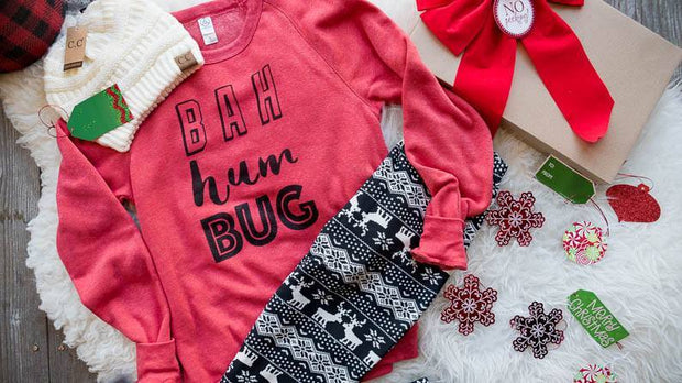 Buh Hum Bug Sweater, GIFT BOXES, Bad Habit Boutique, BAD HABIT BOUTIQUE