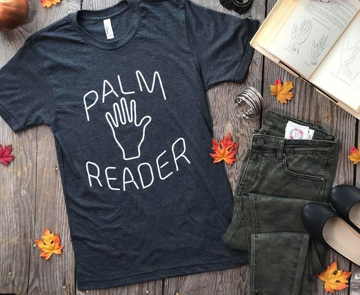Palm Reader Tee | Charcoal halloween fall graphic tshirt