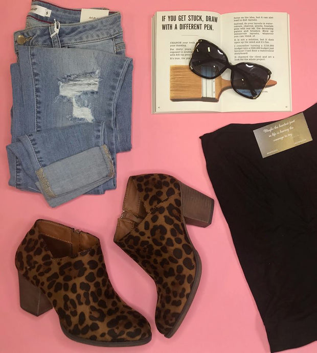 These Alfredo-02 leopard booties are the best way to add that pop of style to your look.