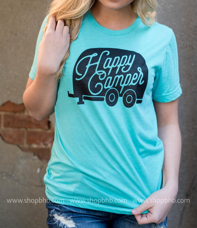 Happy Camper T-Shirt | Unisex Fit, CAMP, GRAPHICS, badhabitboutique