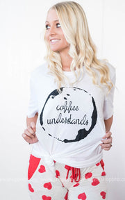 Coffee Understands Tee, COFFEE, vendor-unknown, BAD HABIT BOUTIQUE