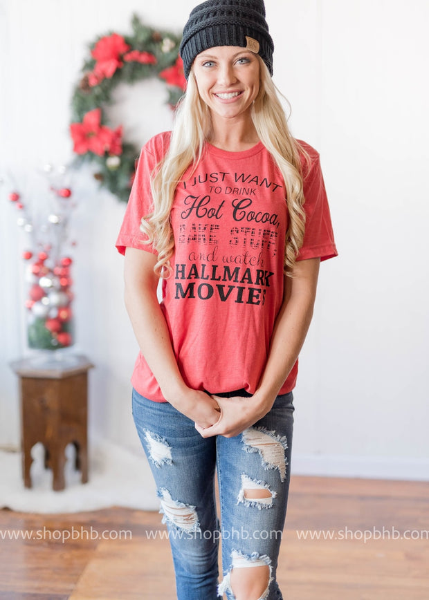 Hallmark tshirt, tshirt, baking and hallmark top, plus size tees, plus size, holiday graphic tee, hallmark movies, hallmark channel