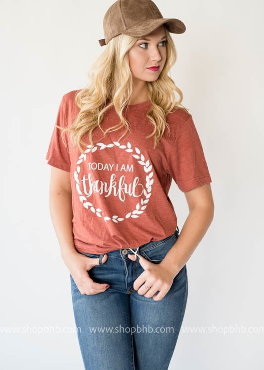 Today I am ThankFul T-shirt- Copper - BAD HABIT BOUTIQUE
