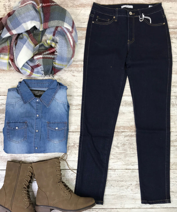 Basic Super Skinny Jeans Denim | Kan Can, DENIM, KAN CAN, BAD HABIT BOUTIQUE