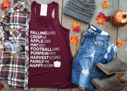 Falling Leaves Tank | Burgundy, HALLOWEEN, BAD HABIT APPAREL, badhabitboutique