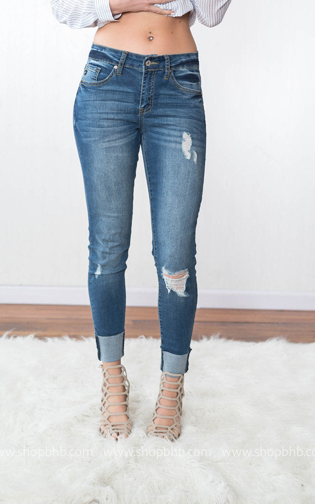 Kan Can Distressed Cuffed Capri | Denim, DENIM, KAN CAN, badhabitboutique