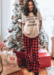 Buffalo Plaid Lounge Pants |  Red and Black - FINAL SALE, SALE, S&S, BAD HABIT BOUTIQUE