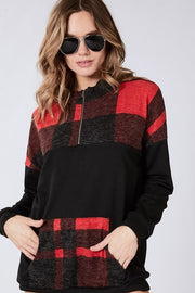 plaid, plaid pullover, buffalo plaid, buffalo plaid pullover