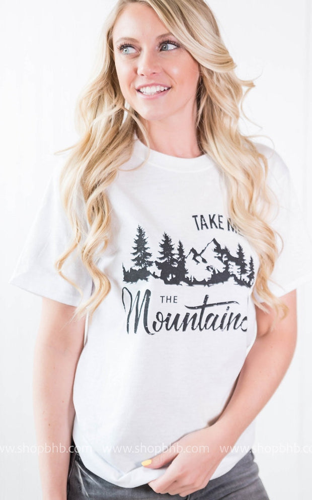 Take Me to the Mountain Tshirt, CLOTHING, BAD HABIT APPAREL, BAD HABIT BOUTIQUE