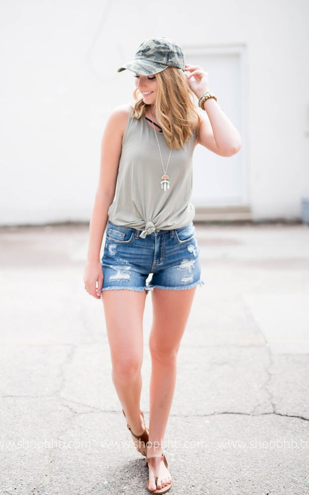 KAN CAN MID-Waisted Shorts, SALE, KAN CAN, badhabitboutique