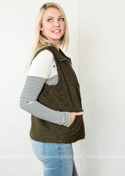 Popcorn Vest with Zipper
