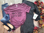 NEW- It's A Bunch Of Hocus Pocus Tshirt Wine