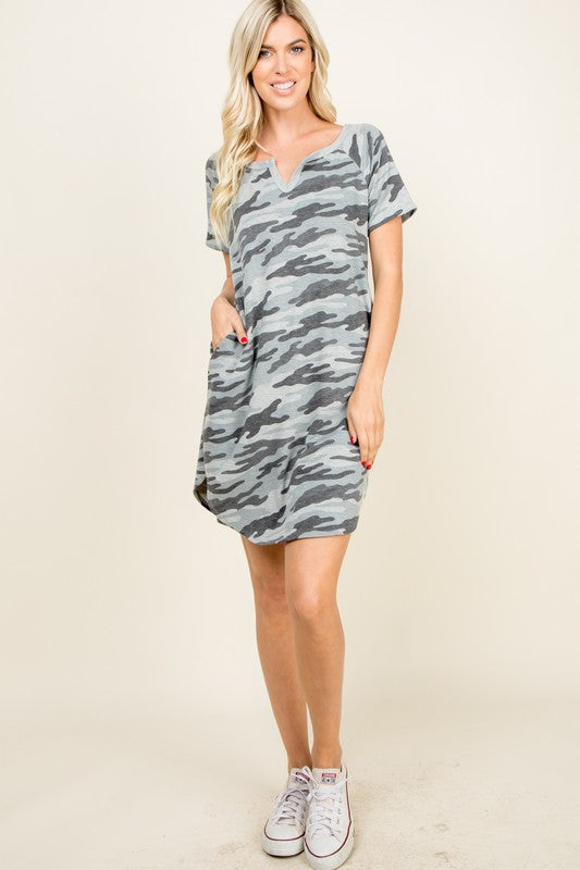 Curvy Girl Camo Dress | FINAL SALE, CLOTHING, A.Gain, BAD HABIT BOUTIQUE
