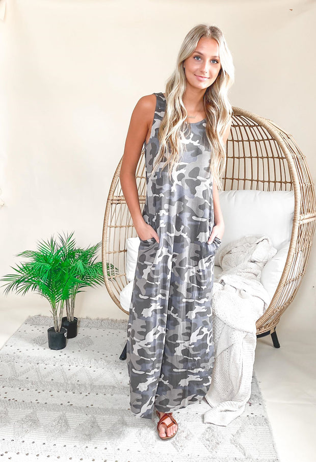 Call to Action Camo Maxi Dress