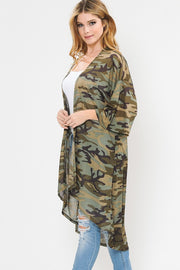 Curvy Girl Camo Duster Kimono | FINAL SALE, CLOTHING, Now N Forever, BAD HABIT BOUTIQUE