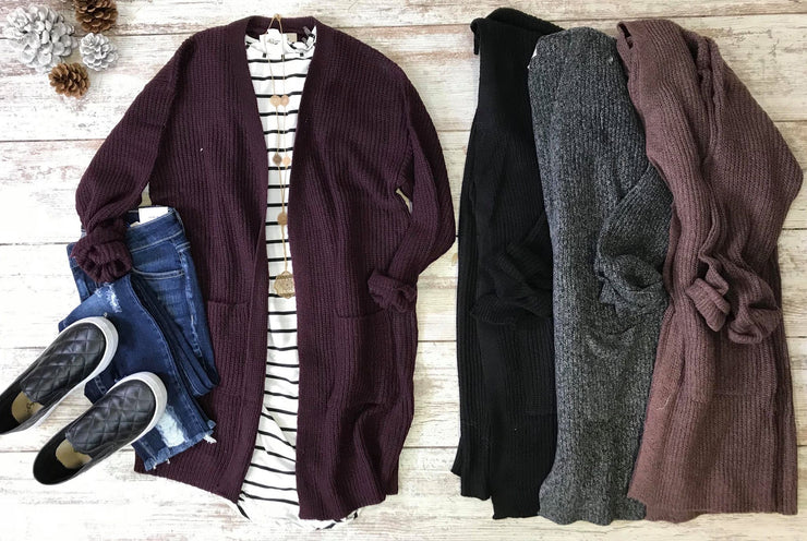 This cardigan is purely soft and cozy perfect for sweater weather winter layering.
