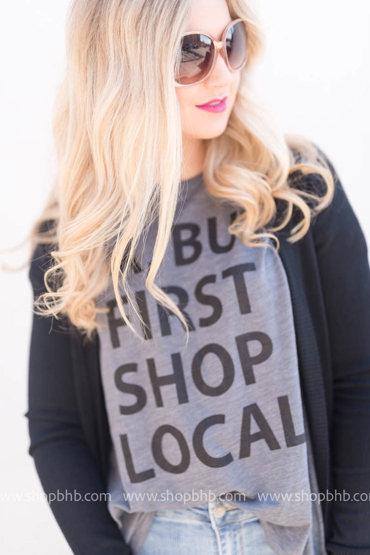 Shop Local Tee - grey