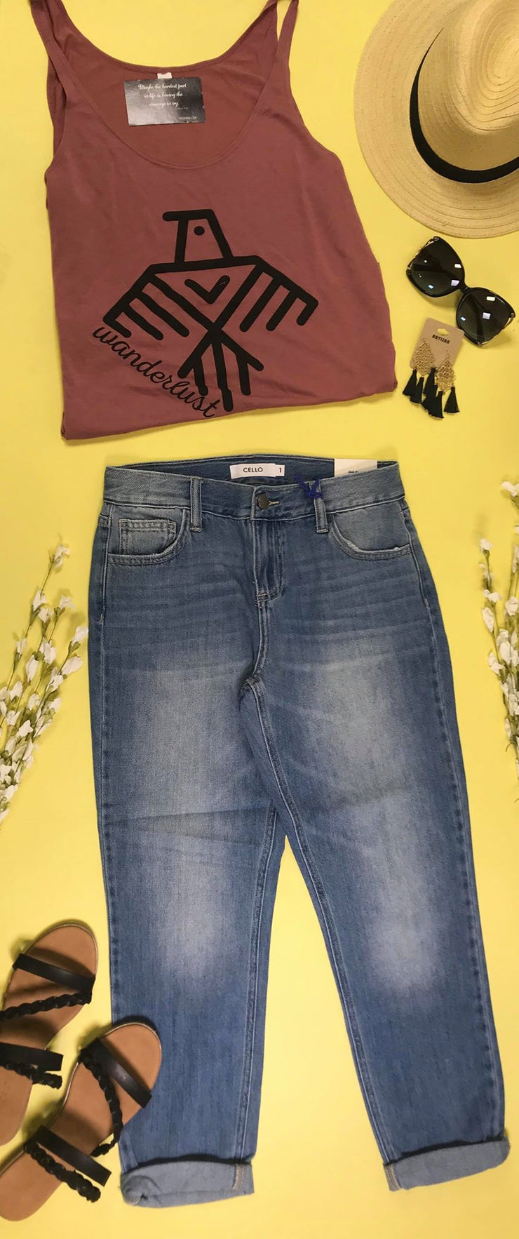 enjoy complimentary shipping latest fashion hot-selling authentic Mid Rise Slim Boyfriend Jeans - Cello
