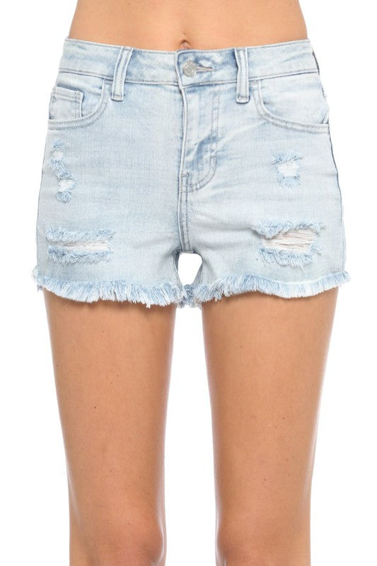 High Rise Destroy Short with Fray Hem | CELLO, CLOTHING, CELLO, BAD HABIT BOUTIQUE