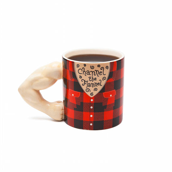 Channel the Flannel Coffee Mug, GIFTS, Big Mouth, BAD HABIT BOUTIQUE