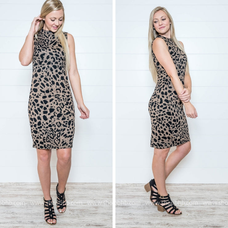 Better Not Cheetah on Me- Cheetah Body con Dress - FINAL SALE, SALE, Gilli, BAD HABIT BOUTIQUE