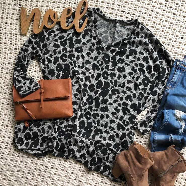 This cheetah tunic with pockets is the perfect top for an afternoon out with the girls.
