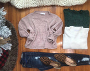 This Chenille Sweater has that cropped length perfect for styling with those plaid skirts or pants.