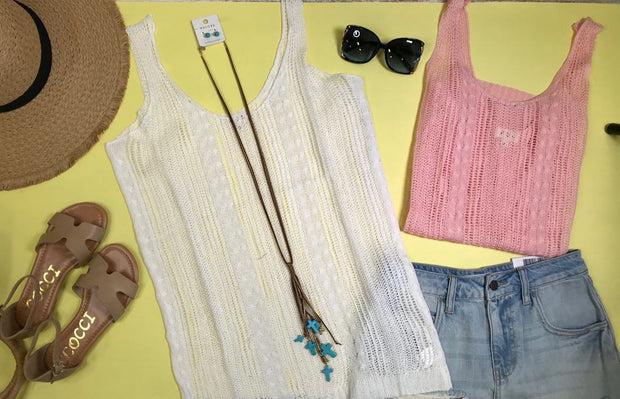 these festival crochet tank is Summer style for that music Coachella festival