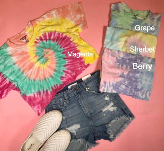 Crop it like its hot tie dye tee