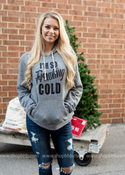 Im So Freaking Cold Hoodie | Deep Heather Gray 3719, CHRISTMAS, GRAPHICS, badhabitboutique