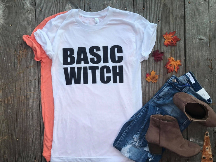 Basic Witch Unisex Fit Tee, HALLOWEEN, BAD HABIT APPAREL, BAD HABIT BOUTIQUE, Basic Witch