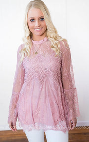 Lace with Bell sleeve, SALE, Bad Habit Boutique, badhabitboutique