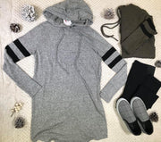 Comfort yet stylish, this Sporty Spice Hooded Dress is one winter essential you will want.