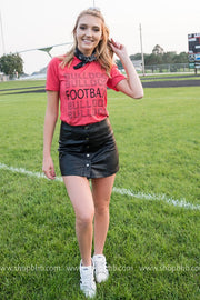 Bulldog Football Tee - red, GAMEDAY, vendor-unknown, badhabitboutique