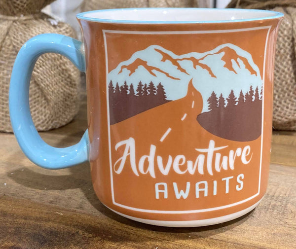 Adventure Awaits Mug, HOME, FAIRE, BAD HABIT BOUTIQUE