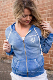 Captain is Always Right Zip Up Hoodie, LAKE, GRAPHICS, BAD HABIT BOUTIQUE