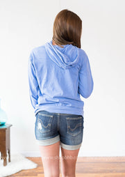 LIGHTWEIGHT LAKE BUM HOODIE - BLUE, WHAT'S NEW, GRAPHICS, badhabitboutique