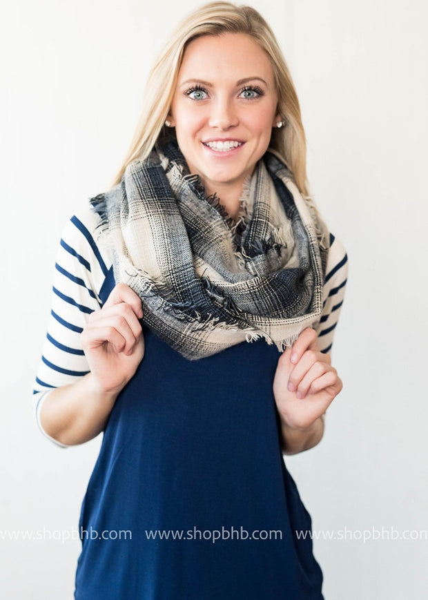 Lightweight Plaid Infinity Scarf, WHAT'S NEW, vendor-unknown, badhabitboutique