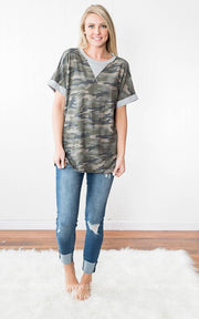 Camo Oversized Tee, SALE, firstlove, badhabitboutique