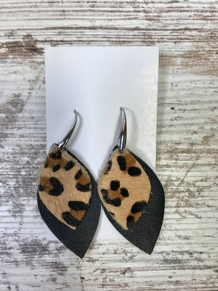 Cheetah Teardrop Earring, JEWERLY, BAD HABIT BOUTIQUE, BAD HABIT BOUTIQUE