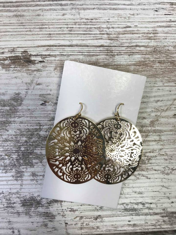 Moroccan Golden Metal Earrings, JEWERLY, BAD HABIT BOUTIQUE, BAD HABIT BOUTIQUE