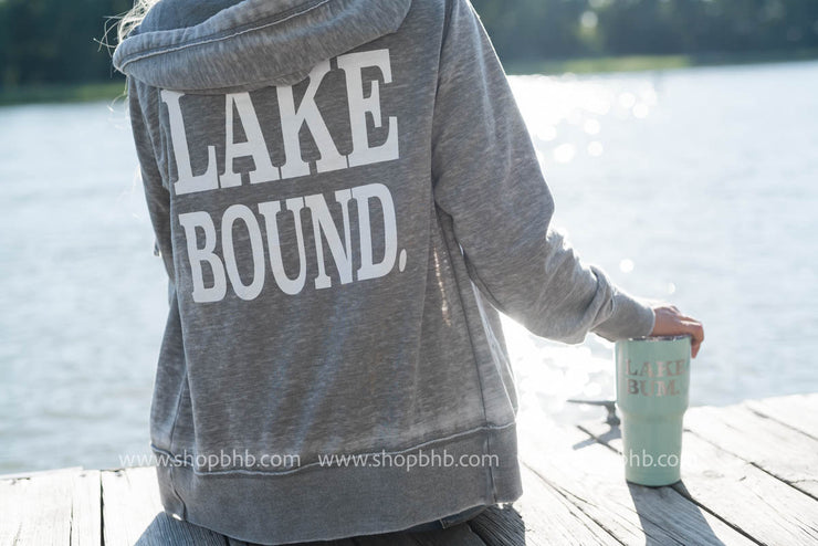 Lake Bound Full Zip Unisex Hoodie, LAKE, GRAPHICS, badhabitboutique