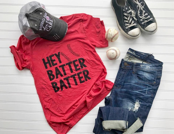 HEY Batter Batter Baseball Tee, BASEBALL, GRAPHICS, bad habit boutique