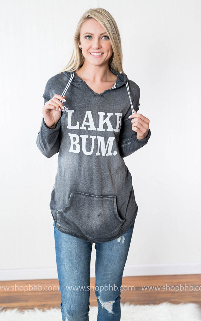 Lake Bum Hoodie | Charcoal, LAKE, vendor-unknown, badhabitboutique