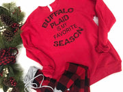 Buffalo Plaid is My Favorite Season Sweatshirt | Red, CLOTHING, BAD HABIT APPAREL, BAD HABIT BOUTIQUE