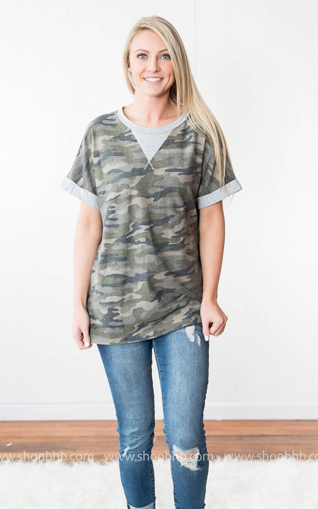 Camo Oversized Tee, SALE, vendor-unknown, badhabitboutique